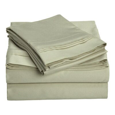 Patric 1500 Thread Count 100% Egyptian-Quality Cotton Sheet Set Size: California King, Color: Sage