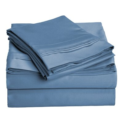 Amherst 1000 Thread Count 100% Cotton Sheet Set Color: Medium Blue