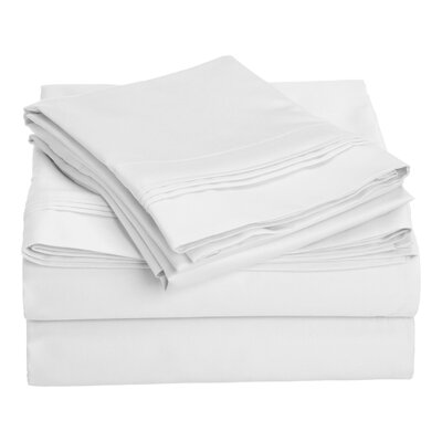Patric 1500 Thread Count 100% Egyptian-Quality Cotton Sheet Set Size: California King, Color: White