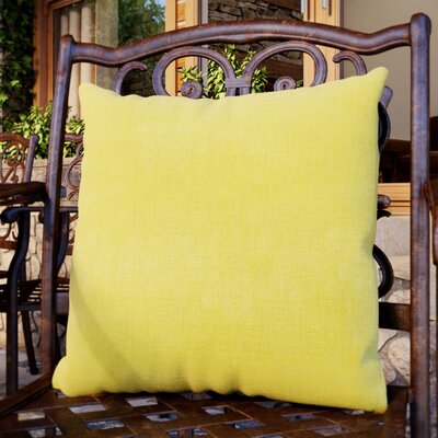 Duquette Mix Pattern Outdoor Throw Pillow Color: Lime