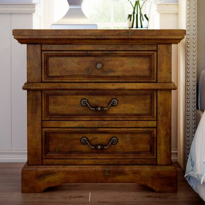 Kennison 3 Drawer Nightstand Finish: Tobacco