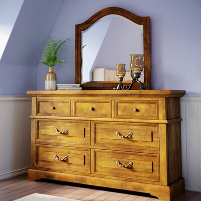 Kennison 7 Drawer Dresser Color: Tobacco