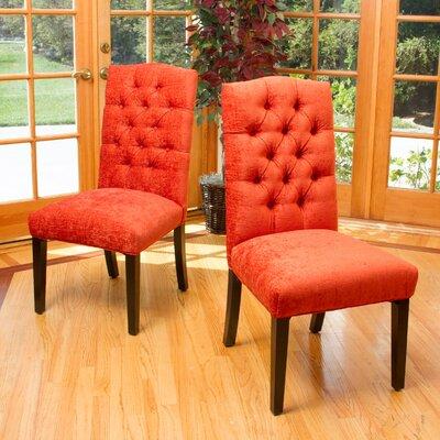 Radley Parsons Chair Upholstery: Fabric / Orange