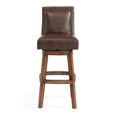 Pompton 26 Swivel Bar Stool with Cushion