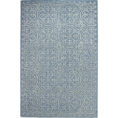 Newson Hand-Tufted Light Blue Area Rug Rug Size: 36 x 56