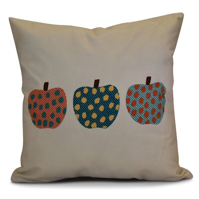 Leesville 3 Little Pumpkins Geometric Euro Pillow Color: Teal