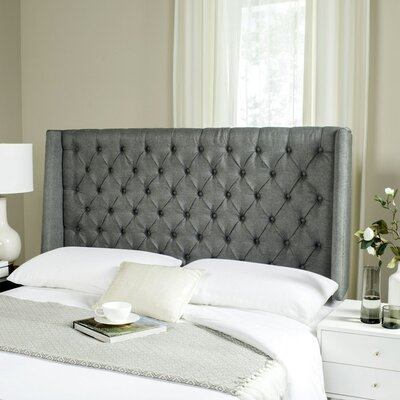 Shaws Upholstered Wingback Headboard Size: Full