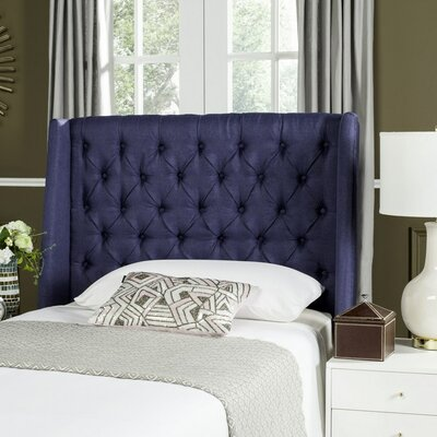 Shaws Upholstered Wingback Headboard Size: Twin