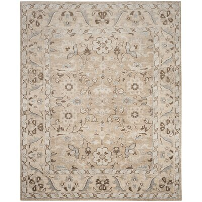 Pearse Hand-Knotted Brown Area Rug Rug Size: 4 x 6