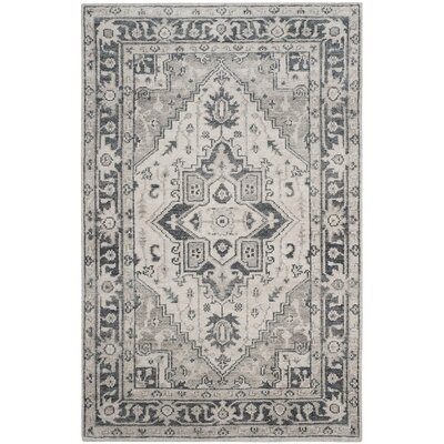 Pearse Hand-Knotted Gray Area Rug Rug Size: 8 x 10