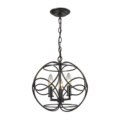 Kiyoko 3-Light Foyer Pendant Finish: Oil Rubbed Bronze