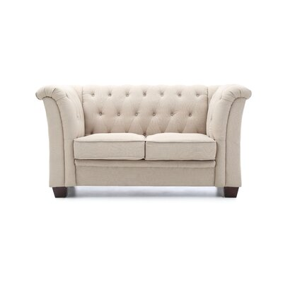 Tignor Tufted Chesterfield Loveseat Finish: Tan