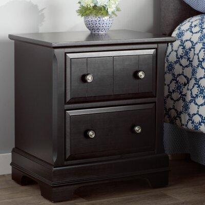 Marquardt 2 Drawer Nightstand Finish: Black