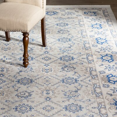 Patina Light Blue/Ivory Area Rug Rug Size: 8 x 10