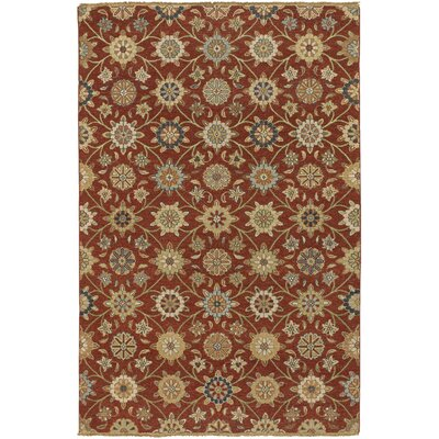 Tyrone Brick/Gold Rug Rug Size: Rectangle 6 x 9