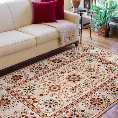Tyrone Ivory Rug Rug Size: Rectangle 6 x 9