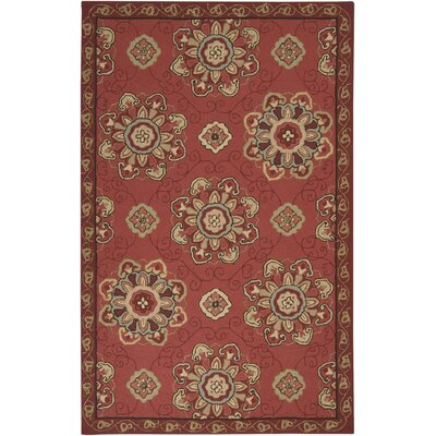 Vickery Red Clay Indoor/Outdoor Rug Rug Size: Round 8