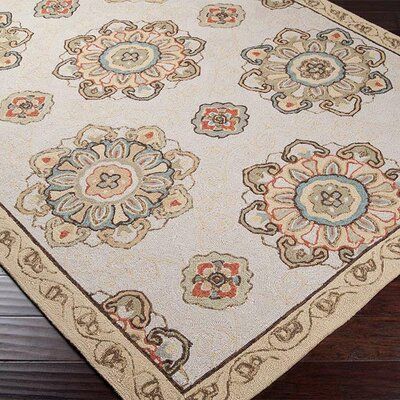 Vickery Gold/Tan Indoor/Outdoor Area Rug Rug Size: 5 x 8
