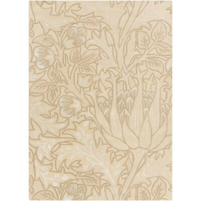 Oneill Hand-Tufted Beige Area Rug Rug Size: Rectangle 5 x 8