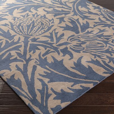 Oneill Cobalt/Taupe Area Rug Rug Size: 2 x 3