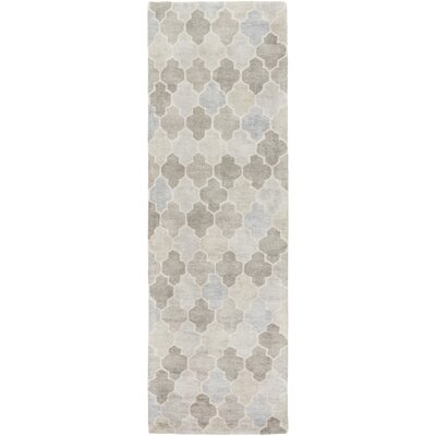 Grant Hand-Tufted Gray Area Rug Rug size: Runner 26 x 8