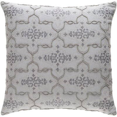 Shaffer Cotton Throw Pillow Size: 22 H x 22 W x 4 D, Color: Gray
