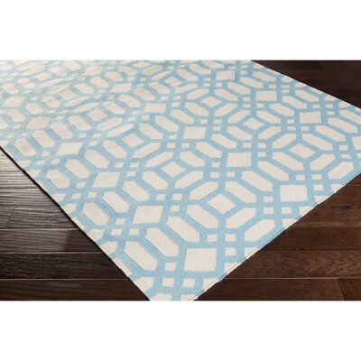Salina Hand-Woven Blue Indoor/Outdoor Area Rug Rug Size: Rectangle 4 x 6