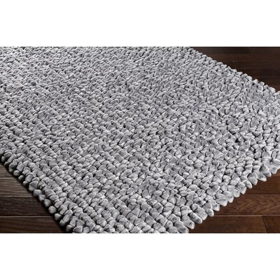 Cosima Hand-Crafted Gray Area Rug Rug Size: Rectangle 5 x 76