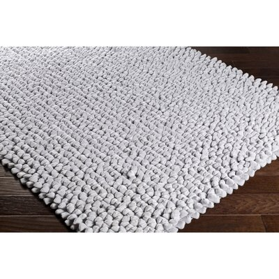 Cosima Hand-Crafted Gray Area Rug Rug Size: 5 x 76