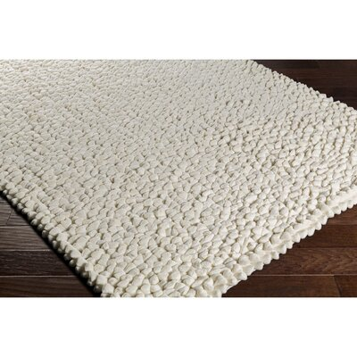 Cosima Hand-Crafted Neutral Area Rug Rug Size: Rectangle 8 x 10
