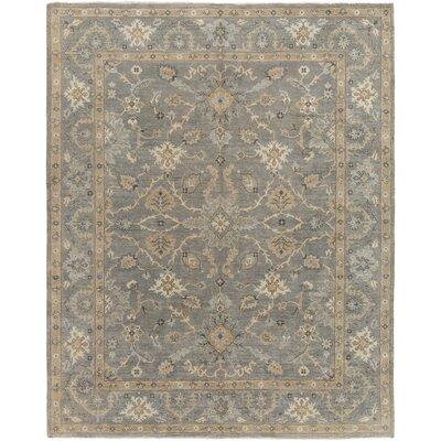Aubrey Hand-Knotted Grey/Neutral Area Rug Rug Size: 10 x 14