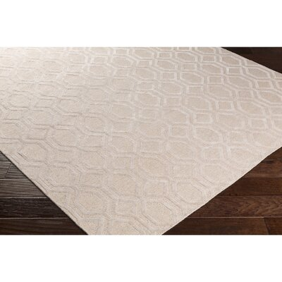 Barrville Hand-Knotted Pink Area Rug Rug Size: Rectangle 9 x 13