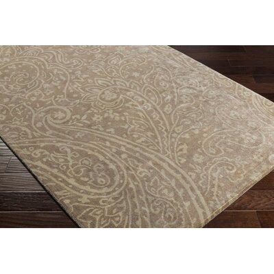Grant Hand-Tufted Brown/Neutral Area Rug Rug Size: Rectangle 36 x 56