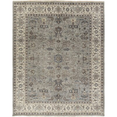 Hazlewood Hand-Knotted Grey/Brown Area Rug Rug Size: 2 x 3