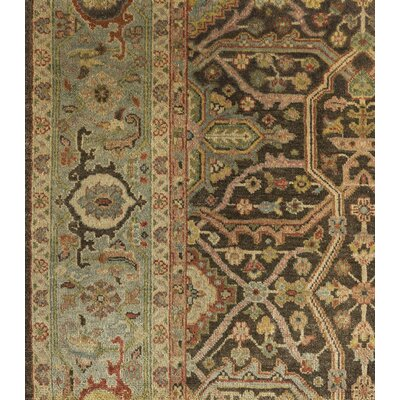 Blaine Hand-Knotted Brown Area Rug Rug Size: 6 x 9