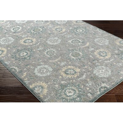 Walden Brown/Blue Area Rug Rug Size: 53 x 73