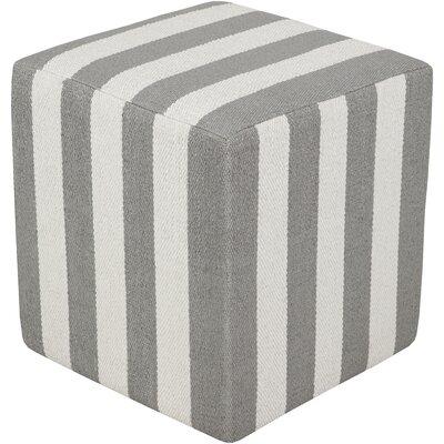 Chasing Pouf Ottoman Upholstery: Light Gray