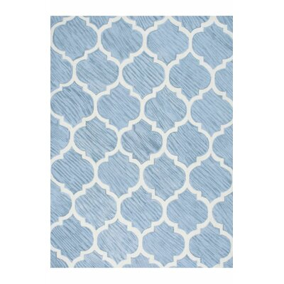 Rayland Hand-Hooked Blue Area Rug Rug Size: Rectangle 76 x 96