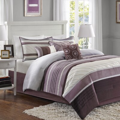 Rendville 7 Piece Comforter Set Size: Queen, Color: Purple