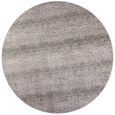 Deering Taupe/Gray Area Rug Rug Size: Round 66