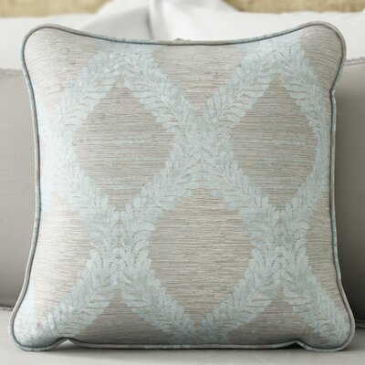 Bartow Throw Pillow Size: 18 H x 18 W x 0.5 D, Color: Blue / Grey