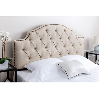 Cowan Queen Upholstered Panel Headboard Upholstery: Beige