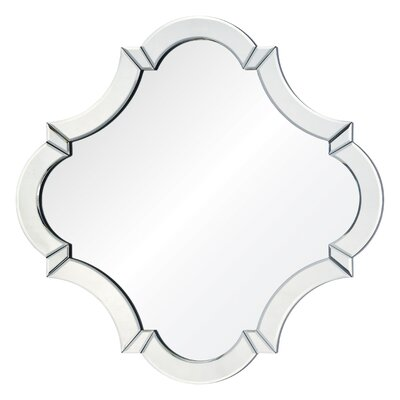 Sliver MDF and Glass Wall Mirror
