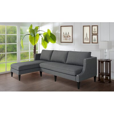 Arbus Reversible Sectional Upholstery: Steeple Gray