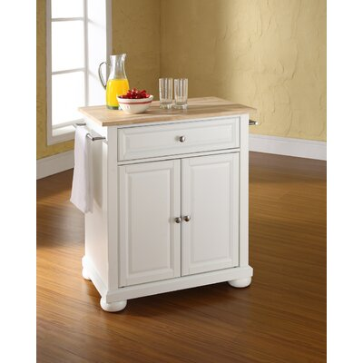 Pottstown Kitchen Cart Base Finish: White
