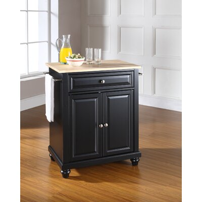 Goreville Kitchen Cart Base Finish: Black