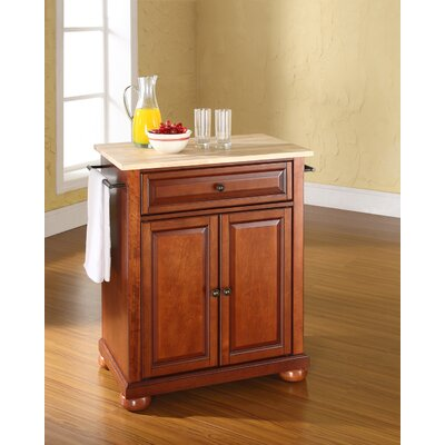 Pottstown Kitchen Cart Base Finish: Classic Cherry