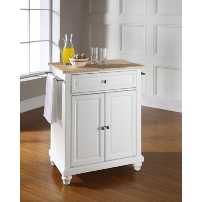 Goreville Kitchen Cart Base Finish: White