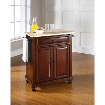 Goreville Kitchen Cart Base Finish: Vintage Mahogany
