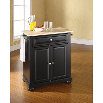 Pottstown Kitchen Cart Base Finish: Black